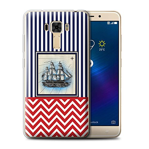 Stuff4® Phone Case/Cover/Skin/OTH-GC/Nautical Marine Chevron Collection Asus ZenFone 3 Laser ZC551KL schip/boot/zeilen.