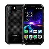 Teléfonos móviles desbloqueados y sin SIM SOYES S10 3 GB + 32 GB, y Face ID identificación de Huellas Dactilares, Dual SIM, Bluetooth, Wi-Fi, GPS, NFC, Red: 4G, Soporte Google Play (Color : Negro)