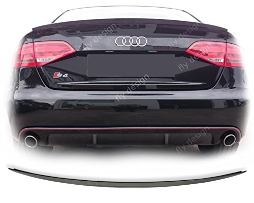 Car-Tuning24 55216979 Brillantschwarz lack Spoiler aus ABS für Tuning A4 B8 limousine Typ ABT
