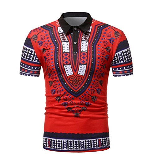 AliKEEY 2018 heren slim fit korte mouwen Afrikaanse print muscle T-shirt casual blouse heren polo shirts korte mouwen casual T-shirt slim fit hemd