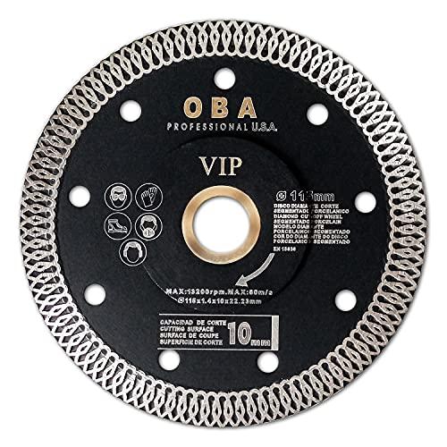 OBA disco de corte de diamante 115mm, Disco Diamante para corte de Porcelanico, Cerámica dura, Azulejos, Mármol, Granito, Piedra caliza
