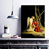 HGlSG HD Canvas Painting Christian Jesus Picture Print and Poster Home Decoration Picture for Living Room Wall Room Scandinavian Home Cuadros A3 60x90cm