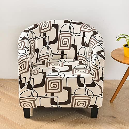 YNYEZBH Funda de sillón para Silla de Club Spandex Funda geométrica extraíble para Silla de bañera Funda elástica elástica Funda de sofá Protector de Muebles color14