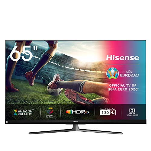 Hisense 65U8QF QLED 164cm (65 Zoll) Fernseher (4K ULED HDR Smart TV, Ultra Premium HD, HDR10+, Dolby Vision&Atmos, Full Array Local Dimming, 120Hz Panel, USB-Recording, JBL sound, Alexa Built-in)