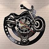 Eld Dia 30cm Moto Disque Vinyle Horloge Murale Garage Unique Art Design Montre Vintage Montre Homme Cave Atelier Décor Motocyclistes Cadeau 7 Couleurs Changement Cadeau De Jour Des Enfants