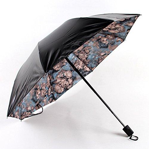 GTWP GTWP GT Regenschirm Manual Mode 3 Folding Umbrella Druckschirm stockschirm robuste Winddicht Anti-UV-Sonnenschutz Dach Sonnenschirm
