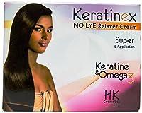 Keratinex アンチ破損髪リラクサークリームノーライ、1つのキットスーパー