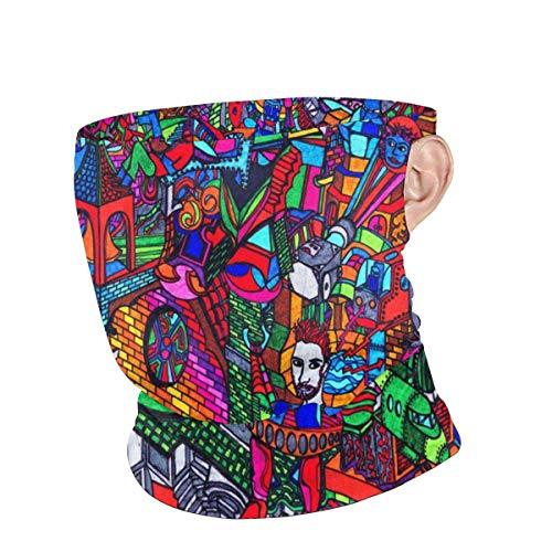 shenguang Sturmhaube Gesichtsmaske Paris Eiffelturm Roter Regenschirm Stadtbild Sommer UV Sonnenschutz Halsmanschette Große Ohrmuschel Gesichtsmaske Bedeckung Bandanas für Männer Frauen Erwachsen