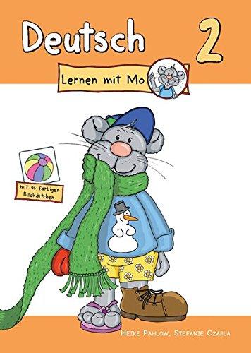 Deutsch lernen mit Mo - Teil 2: Bildwörterbuch zum Ausmalen, Üben und Spielen mit farbigen Bildkärtchen