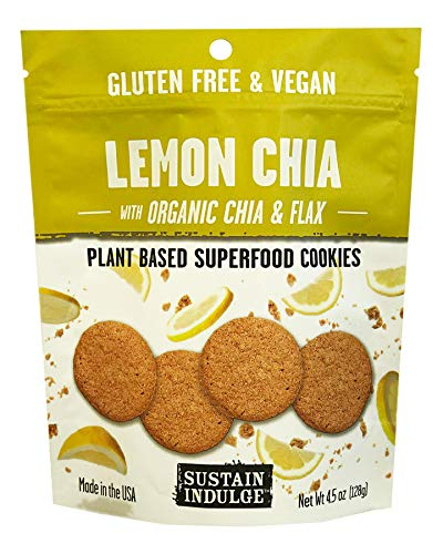 Sustainable Indulgence - Gluten Free, Vegan Cookies with Superfoods, Lemon Chia (Pack of 3)
