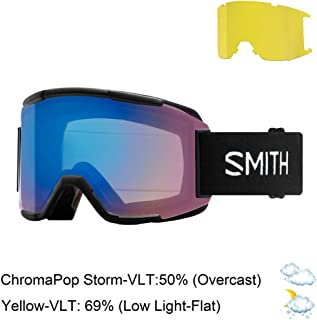Smith Optics Squad Adult Snowmobile Goggles - Black/Chromapop Storm Rose Flash/One Size