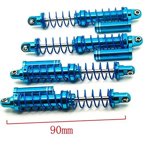 Que-T 4 Pcs Aluminum 90mm Shock Absorbers Set for 1/10 RC SCX10 D90 TF2 Crawler Car