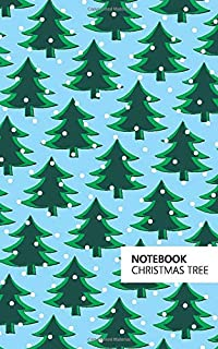 Christmas Tree Notebook: (Powder Blue Edition) Fun Notebook 96 Ruled/Lined Pages (5x8 inches / 12.7x20.3cm / Junior Legal ...