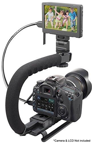 Pro Video Stabilizing Handle Grip for: Panasonic Lumix DMC-GX8 Vertical Shoe Mount Stabilizer Handle