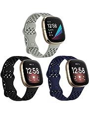 Hoopyeecase Kompatybilny z Fitbit Versa 3 Strap/Fitbit Sense Strap, Miękki Silikon Sport pasek od zegarka Zastąpienie Mankiet Kompatybilny z Fitbit Versa 3/Sense dla kobiet mężczyzn