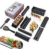 TUT Sushi Maker Kit, 10 Pezzi DIY Sushi Set di Strumenti per Sushi,UnicheSushi corredo delcreatore Sushi Roll Maker Stampo Facile da Usare Set di Sushi Sushi Kit (nero)