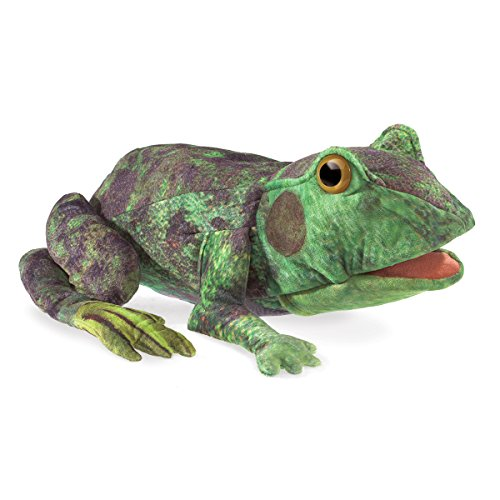 Folkmanis Frog Life Cycle Hand Puppet, Green, 8'