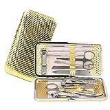 Molain - Kit de pedicura y manicura de 12 piezas. Tijeras, alicates y pinzas para uñas y cutícula