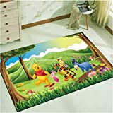 Carpet Rugs Crawling Mat living Bedroom Bath Creativity Cartoon Cute Winnie the Pooh pattern Warm gift girl rectangle waterproof Antifouling