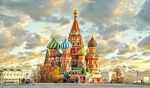 Puzzle de 1000 Piezas de Rompecabezas de Madera Juego de Juguetes educativos de Madera del Rompecabezas del Kremlin de Moscú para niños y Adultos