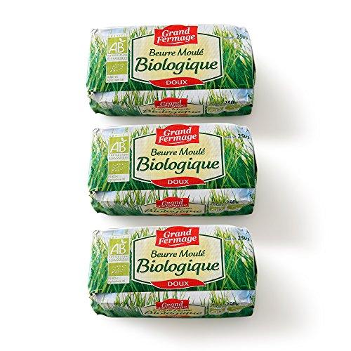 3個セット 有機バイオバター グラスフェッドバター 無塩バター