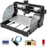 VEVOR CNC Router Machine 3018 CNC 3018-PRO 3 Axis PCB Milling Machine Wood Router Engraver GRBL Control DIY Engraving CNC Machine with Offline Controller and ER11 and 5mm Extension Rod(300x180x45mm)