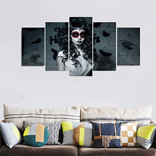 5pcs/set New 3D effect Horror Wall Sticker Removable Wallpaper Festival Poster Halloween Party Decoration Living Room Decor