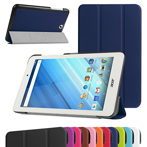 "MAMA MOUTH Acer Iconia One 8 B1-850 Ultra Funda, Ultra Slim Ligera PU Cuero con Soporte Funda Caso Case para 8.0"" Acer Iconia One 8 B1-850 Android Tablet,Azul Oscuro"