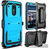 Jwest LG Stylo 3 Case,LG Stylo 3 Plus Case, LG Stylus 3 Case, Heavy Duty Full-Body Rugged Holster Defender Armor Case [Belt Clip][Kickstand] for LG Stylus 3 Plus/G Stylo 3/LS777- Blue