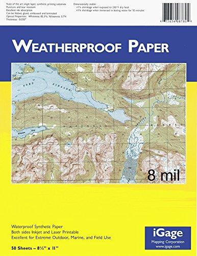 Igage Weatherproof Paper 8 Mil 50 Sheets #8770