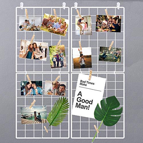 Halcent Cornice Foto Pannello Griglia Parete Portafoto, Decorazione Pannello Porta Foto Parete Memoboard Espositore Foto