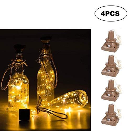 Platz Solar Energy Licht 1M Weinflasche Dekor Kupferdraht Lampen-Schnur Solarleuchten für Garten Außen (Color : Warm white)