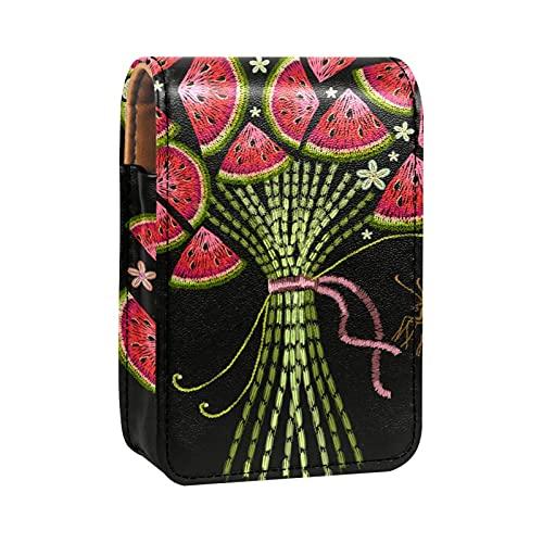 qfkj Étui à Rouge à lèvres Portable avec Un Couvercle,Bouquet de Broderie de pastèque