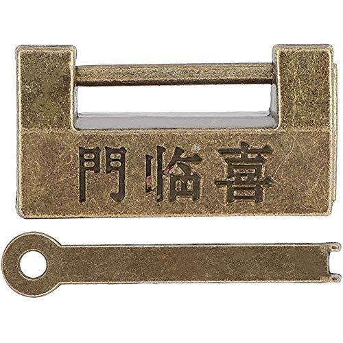 Best Friend Collares, Mini candado de cobre de estilo chino vintage, candado horizontal para joyero, protección de collares, pulseras y anillos para pendientes y relojes, organizador de joyas