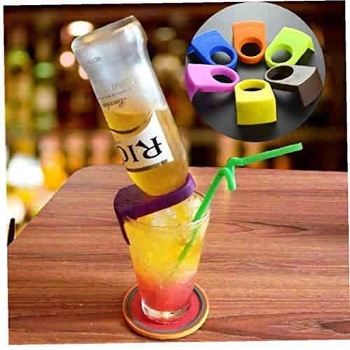 6pcs Wine Bar Cocktail Flasche Schnalle Bier Cocktail Bar Drink Snap-Clips Flaschenhalter Bar Küchenzubehör Küchenhelfer