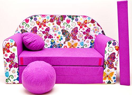 M33Niños Bar Dormir emergente sofá sofá sofá Mini sofá 3en 1Baby Set +–Sillón infantil y asiento cojín + colchón