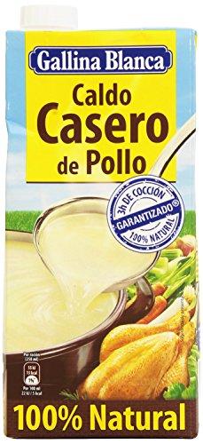 Gallina Blanca - Caldo casero de pollo - 100% natural - 1 l - [pack de 2]