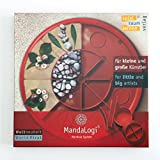 MandaLogi | Kinder Spielzeug | Feinmotorik, Konzentration, Entwicklung Fördern | Mandala formen selber stecken | Befüllbar mit materialen aus der natur (Z.B. Sand, Holz, Blumen) -