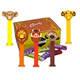 Lion King Pez Candy Dispensers Set - With EXTRA Pez Candy Refills | One Of Each Dispenser Simba, Mufasa, Nala, Timon and Pumba | Disney Lion King Party Favors In A Candy Box