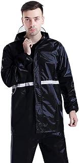 LGQ-HW 安全警告の間の防水ジャケットの反射防水輸送屋外の防水ズボンは人および女性のスーツのために分かれます (色 : ブラック, サイズ さいず : XXL)