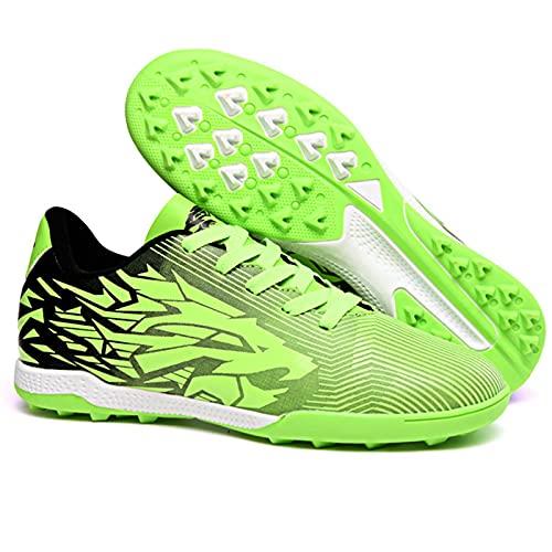 Zapatos de fútbol infantiles para hombres, zapatos de fondo transpirable antideslizante, zapatos de fútbol artificial hierba profesional, zapatos de competición zapatos de Entrenamiento,D-36 EU
