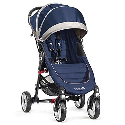 Baby Jogger City Mini 4Traditionelle 1Kombikinderwagen-Kinderwagen Sitz (S) blau, grau (Traditionell, 60Monat (es), 1Sitz (S), blau, grau, flach, aufblasbaren Luftreifen)