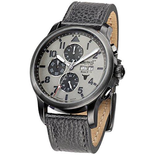 Ingersoll Herren Chronograph Automatik Uhr mit Leder Armband IN1221GUGY