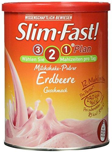 Slim-Fast Pulver Erdbeere, 438 g