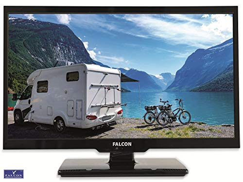 Falcon S4 Serie 19 pollici Full HD LED TV con lettore DVD   12 V e 24 V   Bluetooth Triple Tuner DVB-S2, DVB-T2, DVB-C CI+ slot per auto da 12 V   cavo incluso, perfetto per il campeggio