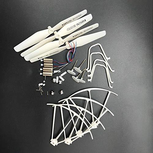 X5UW X5UC 2.4G RC Quadcopter / RC Drone Pezzi di Ricambio Lame Motori Impalcature Tappi Lama Ingranaggi Parti quadricottero Accessori - Bianco