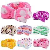 Nucifer - Confezione da 8 fasce per capelli da donna in morbido pile corallo per trucco, elastici per capelli per ragazze che lavano il viso maschera doccia