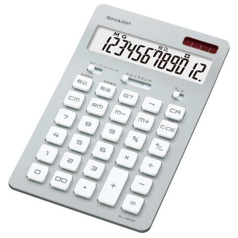 SHARP(シャープ)『カラー・デザイン電卓 ナイスサイズタイプ EL-N802』