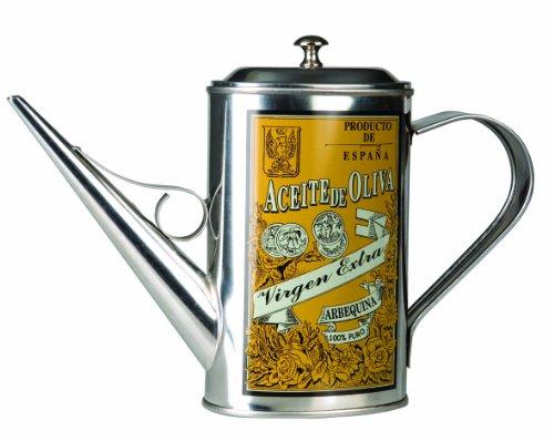 IBILI Speiseölkanne Arbequina 0,5 l, Edelstahl, Silber, 23 x 18 x 7 cm