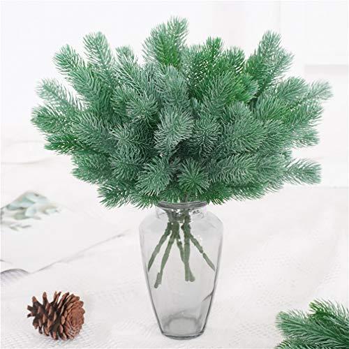 WEIHEEE - Agujas de pino artificiales para el hogar, decoración de mesa para banquetes de boda, decoración de flores escalables para mujeres